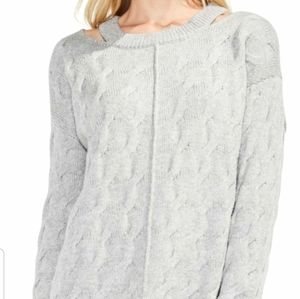 Vince Camuto Keyhole Neck Cable Sweater SIze Small